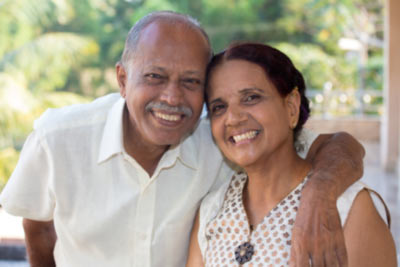 older couple with Indian heritage